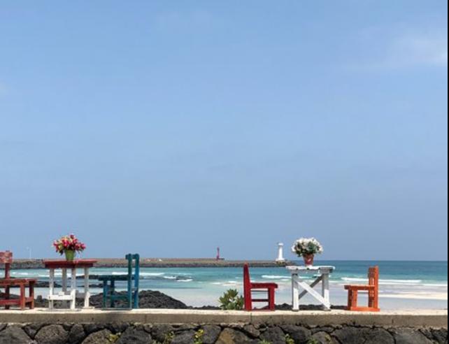 チェジュ島のセファビーチ周辺のカフェ2です