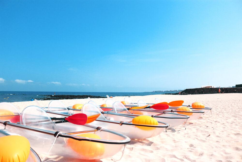 チェジュ島のビーチです